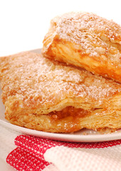Freshly baked apple turnovers