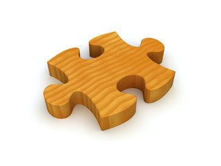 Wooden Puzzle Piece