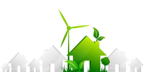 Maison gris vert écologie