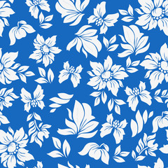 Aloha Flower Pattern Blue