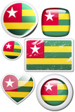 Set of stickers and buttons - Togo