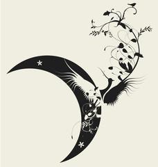 Bird and moon design