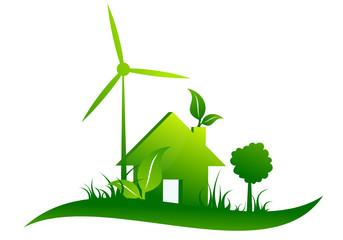 Maison écologie courbe