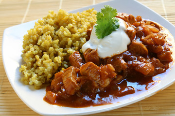 Vindaloo Indian Chicken Curry & Rice