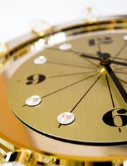 clock with crystals