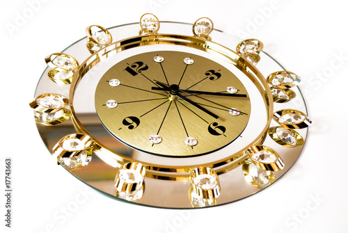 clock with crystals
