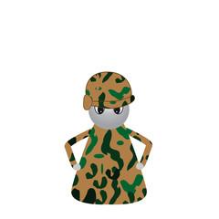 Spielfigur Soldat abstrakt