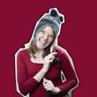 jeune femme polissonne bonnet pompon