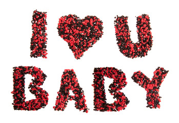 """""""i love you baby"""" sign"""