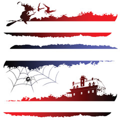 Set of sketches on a holiday theme halloween for design