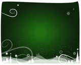 christmas background green loop