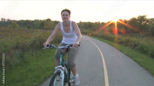 Woman on Bike Ride