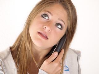 Am Telefonieren