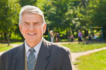 Senior man in park