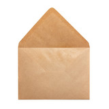 Open paper envelope
