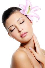 Skincare of female neck