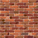 Old brick wall. Seamless texture. Vector.