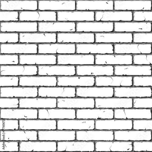 Brick Wall. Seamless. Vector illustration.