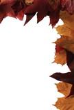 papier correspondance -  déco automne poster
