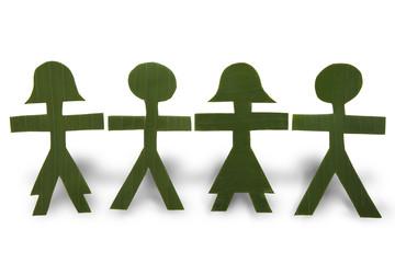 Cadena de Hombrecitos Verdes