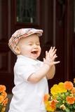 Cute Little Boy tleskání