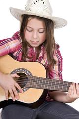 Cute Girl Playing the Guitar