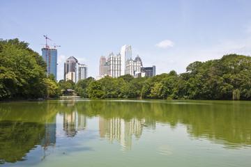 Atlanta Towers Reflected in Lake