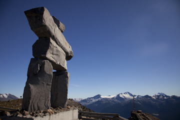 Inukshuk on the top of Whistler