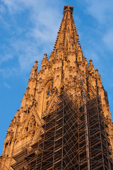 Spire of the St. Stephen´s Cathedral, Vienna, Austria