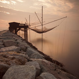Old italian trabocco, the fisherman house