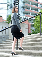 Attractive young professional businesswoman