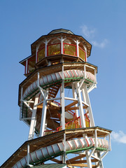 spiral slide amusement park ride