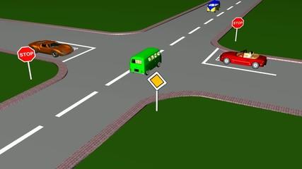Strada con diritto di precedenza