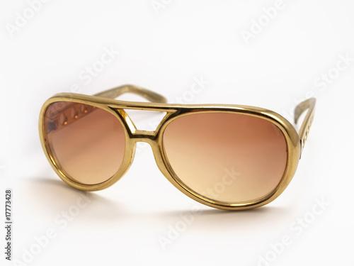 Gold Elvis Presley Sunglasses - 17773428