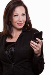 Attractive thirties caucasian businesswoman