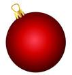 Illustration einer roten Weihnachtskugel