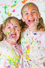kids having messy fun