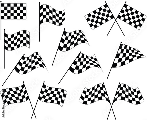 Race Flag Various Designs, Vinyl Ready - 17779615