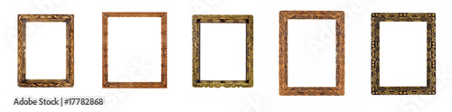 Collage of beautiful wooden carved Frames