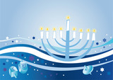 Glad background to the Jewish holiday Hanukkah poster