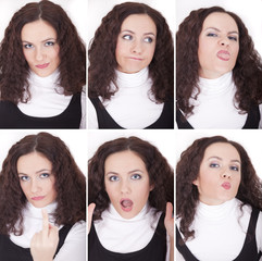 female face expressions