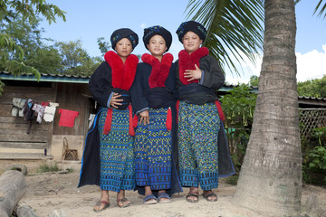Asiatische Frauen Laos, Volksgruppe Yao