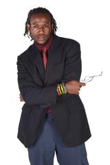 Handsome African businessman
