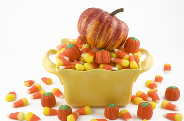 Halloween Candy Corn and Pumpkin