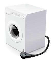 Lave-linge et consommation électrique (reflet)