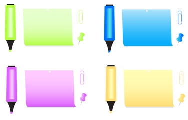 Illustration of office accessories