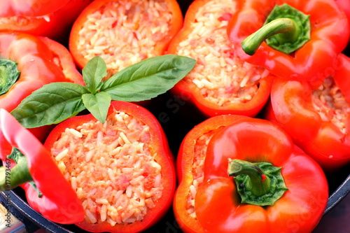 Hungarian delicacy, stuffed red pepper