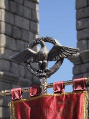 Estandarte de legión romana en Segovia