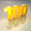 Golden 100 3D Render