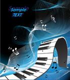 Fototapety abstract piano keyboard